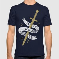 It Is Not Over Mens Fitted Tee Navy SMALL