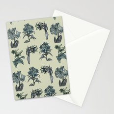 Botanical Florals | Vintage Blue Stationery Cards