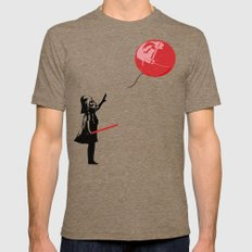 That's No Banksy Balloon (It's a Space Station) Mens Fitted Tee Tri-Coffee SMALL