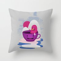Reflections In Coffee Throw Pillow