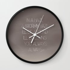 Parachutes Wall Clock