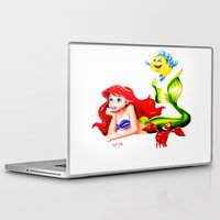 the little mermaid Laptop & iPad Skins featuring LITTLE MERMAID by HaMaD ArT