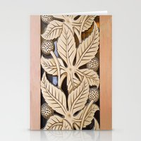 Bronze Art Deco Leaves Stationery Cards