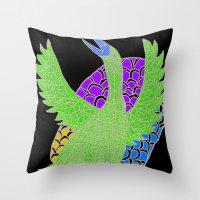 Flying Bird 2 Throw Pillow
