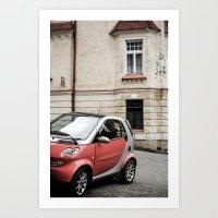 Red Car In Marienbad Art Print