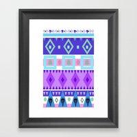 Winter Patterns Framed Art Print