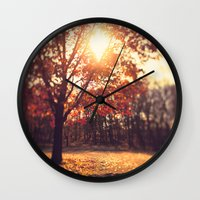 Autumn Sun  Wall Clock