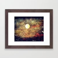 Moon Over The Sea Framed Art Print