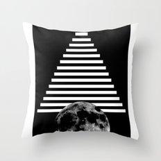 moon walk Throw Pillow