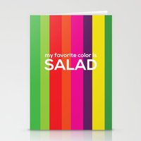 My Favorite Color Is Sal… Stationery Cards