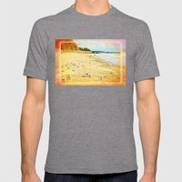 Gulls on the beach Mens Fitted Tee Tri-Grey SMALL