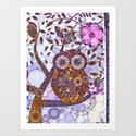 If Klimt Painted An Owl :) Owls are darling birds! Art Print