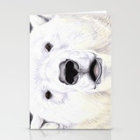 polar bear Stationery Cards featuring Polar Bear by StudioBlueRoom