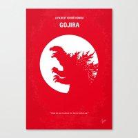 No029-1 My Godzilla 1954… Canvas Print