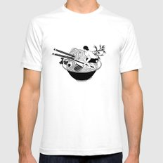 Noodle Wave Mens Fitted Tee White SMALL