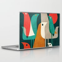 minimalist Laptop & iPad Skins featuring Flock of Birds by Picomodi