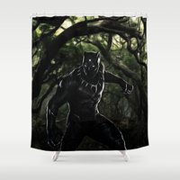 Big Cat On The Prowl Shower Curtain