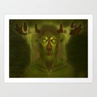 Horned Deity Art Print
