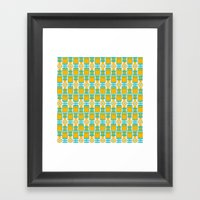 Summer geometry Framed Art Print