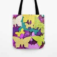 Tote Bag featuring Fancy Butterflies by LebensART