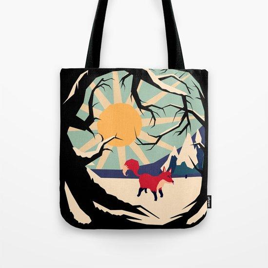 Fox roaming around II Tote Bag