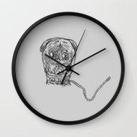 Pug Mug Wall Clock