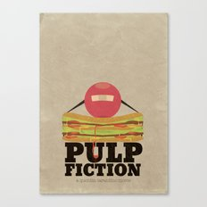 Pulp Fiction - Minimal Poster Canvas Print