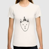 Being Fancy in a Hat Womens Fitted Tee Natural SMALL