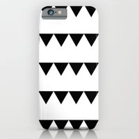 iPhone & iPod Case featuring TRIANGLE BANNERS (Black) by natalie sales