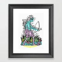 Bow Man Framed Art Print