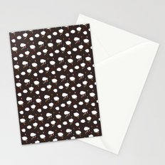 Rainclouds Black Stationery Cards