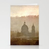 Cityscape - late afternoon Stationery Cards