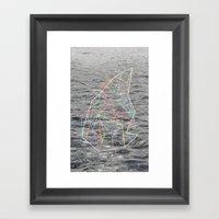 You Listen in Colors Framed Art Print