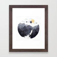 Roundscape II Framed Art Print