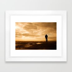 Watching the ships go by Framed Art Print