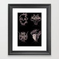 Quatre éléments, Autan… Framed Art Print