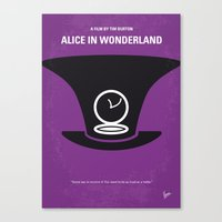 No140 My Alice in Wonderland minimal movie poster Canvas Print