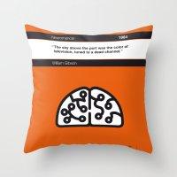 No030 MY Neuromancer Book Icon poster Throw Pillow