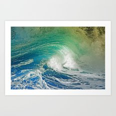 WAVE JOY 2 Art Print