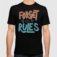 Forget The Rules Mens Fitted Tee Black SMALL