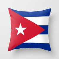 National flag of Cuba - Authentic version Throw Pillow