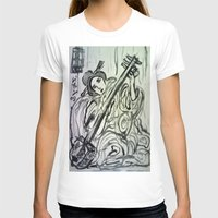 GEISHA MUSICIAN Womens Fitted Tee White SMALL