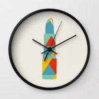 Lipstick Hues Wall Clock