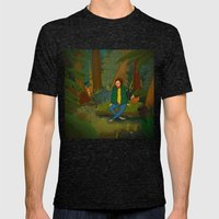 Chilling in the Woods Mens Fitted Tee Tri-Black SMALL
