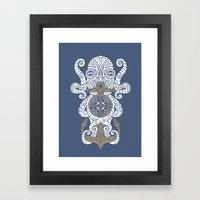 Octopus Anchor And Compa… Framed Art Print