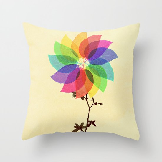 The windmill in my mind Throw Pillow