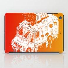 Melty Ice Cream Truck - sherbet iPad Case