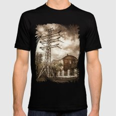 Old Powerstation SMALL Black Mens Fitted Tee