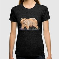 Bear Womens Fitted Tee Tri-Black SMALL