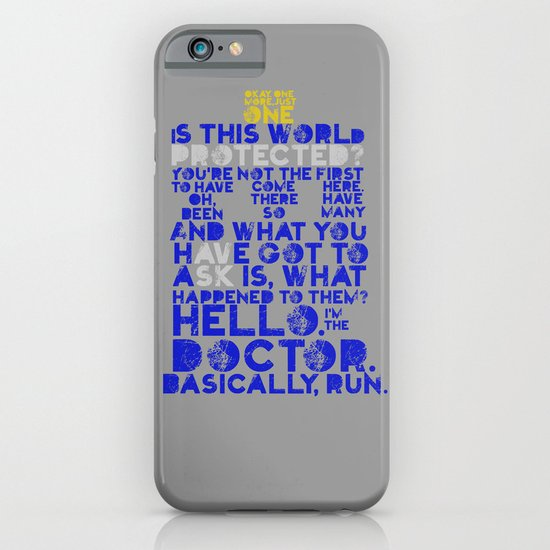 Basically, run (Doctor Who) iPhone & iPod Case